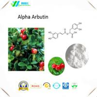 Buy cheap Pure Alpha Arbutin Powder Of  Bearberry Extract For Skin Whitening cosmetic ingredients from wholesalers