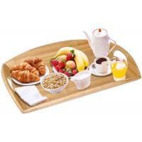 Buy cheap High Quality Bamboo Angular Sides Butler Serving Tray With Handles Bamboo Serving Platter from wholesalers