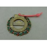 Buy cheap Customized Zinc Alloy Ribbon Medals , 3D Die Casting Antique Brass Medals from wholesalers