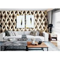Buy cheap Contemporary 3D PVC Wallpaper / 3D Effect Wallpaper For Walls , Water Ink Printing product