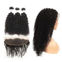Buy cheap Natural Color Kinky Curly Hair Extensions Human Hair For Black Women from wholesalers
