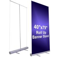 Buy cheap 150cm Width Large Stand Up Banner Roll Up Advertising Banners from wholesalers