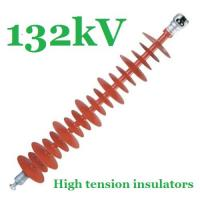 Buy cheap Safety 132kV Composite Polymer Insulator , Red IEC61109 Powerline Insulators from Wholesalers