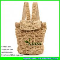Buy cheap LUDA  fashion straw crochet leisure bag paper straw shoulder backup bag from wholesalers