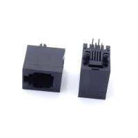Buy cheap Plastic Top Inlet 5224 Vertical 4P4C RJ11 Female Connector For Telephone from wholesalers
