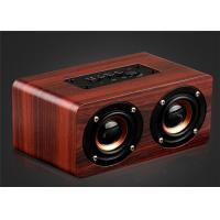 Buy cheap Wooden Bluetooth Stereo Speaker 10W Wireless Portable Speaker Dual Loudspeakers HIFI Subwoofer with Mic TF Card Slot AUX from wholesalers