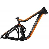 Buy cheap Mtb AM Mountain Bike Frame Black / Orange Color Smooth Welding 152mm Travel from wholesalers