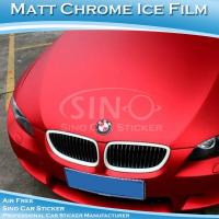 Buy cheap SINO PVC Material Stretchable Matt Chrome Car Wrapping Sticker 1.52x20m from wholesalers