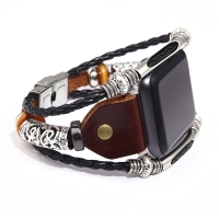 Buy cheap Vintage Smart Watch Band Strap Replacement Leather Alloy Material For Iwatch 38 49 42 44 from wholesalers