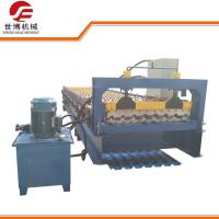Buy cheap Galvanized Aluminium Iron Roofing Sheet Roll Forming Machine , Metal Roof Panel Machine from wholesalers