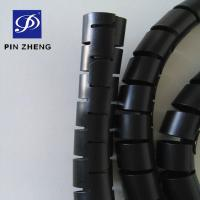 Buy cheap 20mm O.D High Quality PE Cable Cover Cable Protector Spiral Wrapping Bands with Attached Clip 1.5m / roll from wholesalers