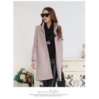 Buy cheap fashion high collar ladies elegant pure cashmere coat from wholesalers