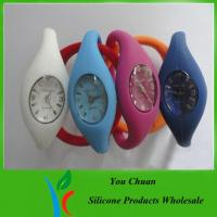 Buy cheap OEM Colorful Waterproof Silicone Anion Watch With AG13 Battery For Men / Women from wholesalers
