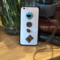 Buy cheap Acrylic DIY Cartoon Candy Chocolate Pasted Cell Phone Case Cover For iPhone 7 6s Plus with Lanyard from wholesalers