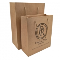 Buy cheap Cheap Recycled Custom Logo Printed Personalized Kraft Paper Bags With Handles from wholesalers
