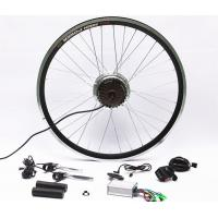 China 7 Speed Rear Wheel Electric Bike Hub Motor Conversion Kit With Batteries on sale