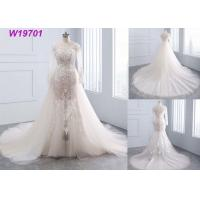 Buy cheap Ivory And White A Line Style Dress , Lace Mermaiddetachable Train Wedding Dress from wholesalers