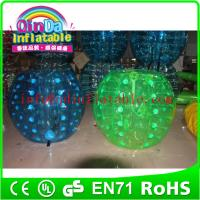 Buy cheap wholesale inflatable soccer bubble/bubble football/inflatable ball suit from wholesalers