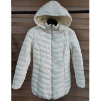 Buy cheap White Womens Lightweight Quilted Padded Jacket With Fix Hoody And Fur Lining from wholesalers