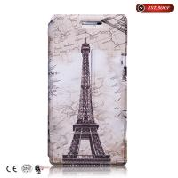 Buy cheap Clear Illustration PU Leather Fit  Smart Cover Cases For Huawei P7 from wholesalers