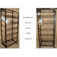 Buy cheap Mulitple Shelves KD Structure Wire Rack Display / Light Duty Wire Retail Display Racks from wholesalers