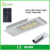 Buy cheap IP66 Solar Powered LED Street Lights 60 W with 10 Years Warranty , TUV CE RoHS product