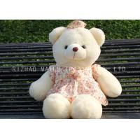 Buy cheap White Bear Animal Plush Toys Lace Red Flower Dress Bows Kids Stuffed Toys from wholesalers