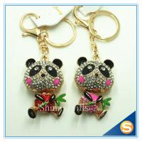 Buy cheap Customized Printing Cute Panda Shape Metal Crystal Key Chain For Wedding souvenirs from wholesalers