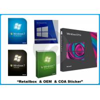 Buy cheap 32/64 bit Windows 7 Pro Retail Box Win 7 software WITH COA sticker online activation from wholesalers