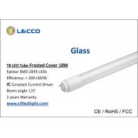 Buy cheap Commercial 6000k 4 Foot T8 Led Fluorescent Tube Lights Glass 360 Degree Beam Angle from wholesalers