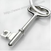 Buy cheap Metal key shape FOB pendant key chains, alloy key shaped drop pendant charming FOB keyring from wholesalers