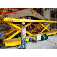Buy cheap Crane Work Hydraulic Lifting Transfer Cart With Large Table Electric Power from wholesalers