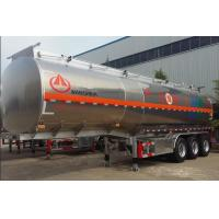 Buy cheap Aluminum Alloy Hazardous Chemical Tank Semi Trailer 42 - 50 Cubic Lightweight from wholesalers