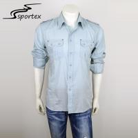 Buy cheap Fashion Mens Fitted Shirts Casual , Casual Shirts For Men Anti Pilling from wholesalers