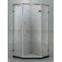 Buy cheap Green Bronze Frameless Shower Door Stainless Steel Hinged Freestanding Shower Enclosure from wholesalers