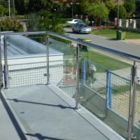 Buy cheap Exterior Stainless Steel Frameless Glass Frosted Deck Railing / Glass Deck Post from wholesalers