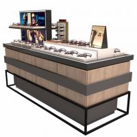 Buy cheap Fashion Customized Glass Display Cabinet With LED Light For Glasses Store from wholesalers