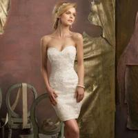 Buy cheap Sweetheart Elegant Lace and Beaded Short Wedding Dress from wholesalers