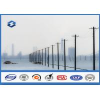 Buy cheap Transmission Distribution Line Conical metal power pole AWS D1.1 Welding product