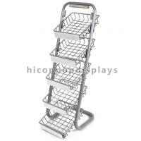 Buy cheap 5 Layer Metal Tray Retail Flooring Display Stand Wire Snack Candy Bar Display Stand from wholesalers
