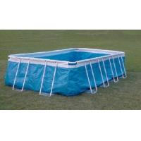 Buy cheap Rectangular Large Steel Frame Inflatable Swimming Pool for School from wholesalers