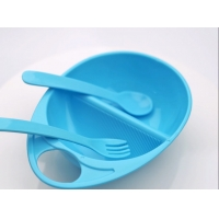 China Plastic Up 3 Month Baby Bowl With Spoon Fork on sale