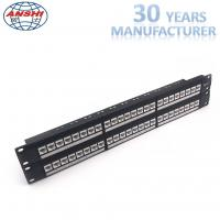 Buy cheap Network Unshielded Patch Panel Loaded With Keystone Jack 48 Ports 2u Cat6 UTP from wholesalers