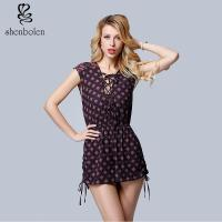 Buy cheap Summer Sleeveless, Sexy V-neck Wave Point Women Casual Shorts, A Rope Beside Him from wholesalers