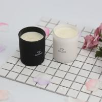 Buy cheap Glass Scented Jar Candle Matte White / Black Painting With Customized Packaging from wholesalers