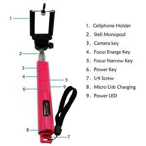 Buy cheap Mini Pocket Bluetooth Selfie Stick Monopod Phone Bracket for Mobile Phone product