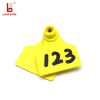 Buy cheap LAIPSON 50mm x 42mm plastic animal Identification Tags metal tip metallic pins male tag in Yellow from wholesalers