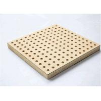Buy cheap Theater Perforated Wood Acoustic Panels MDF Melamine Surface Aluminum Keel product