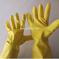 Buy cheap Hot Sale Yellow Color Latex Household Gloves from wholesalers