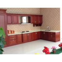 Buy cheap Home Red Wood Kitchen Cabinet Furniture Waterproof Environmental Friendly from wholesalers